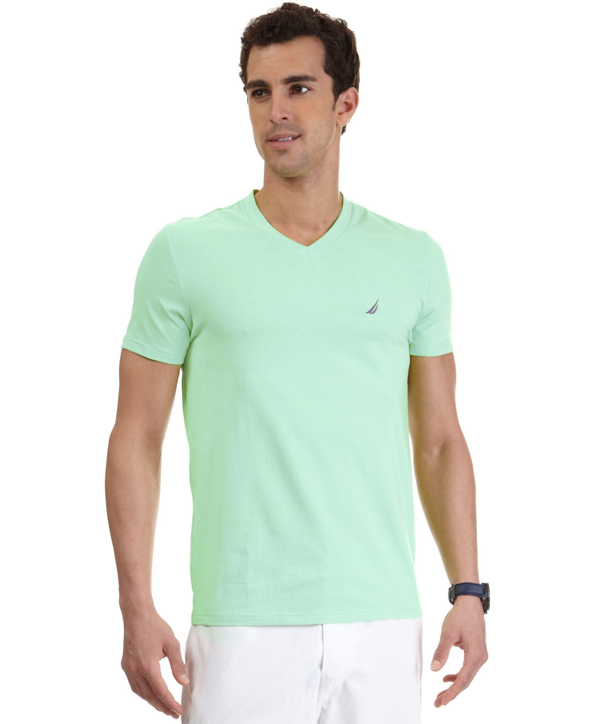 84823d9a Nautica Solid V-Neck T-Shirt | Products | T shirt, Shirts, V neck t ...