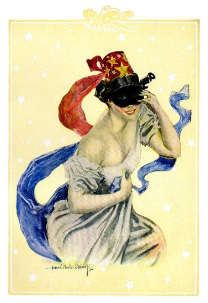 Howard Chandler Christy  Masquerade Girl  by PaperTimeMachine, $3.99