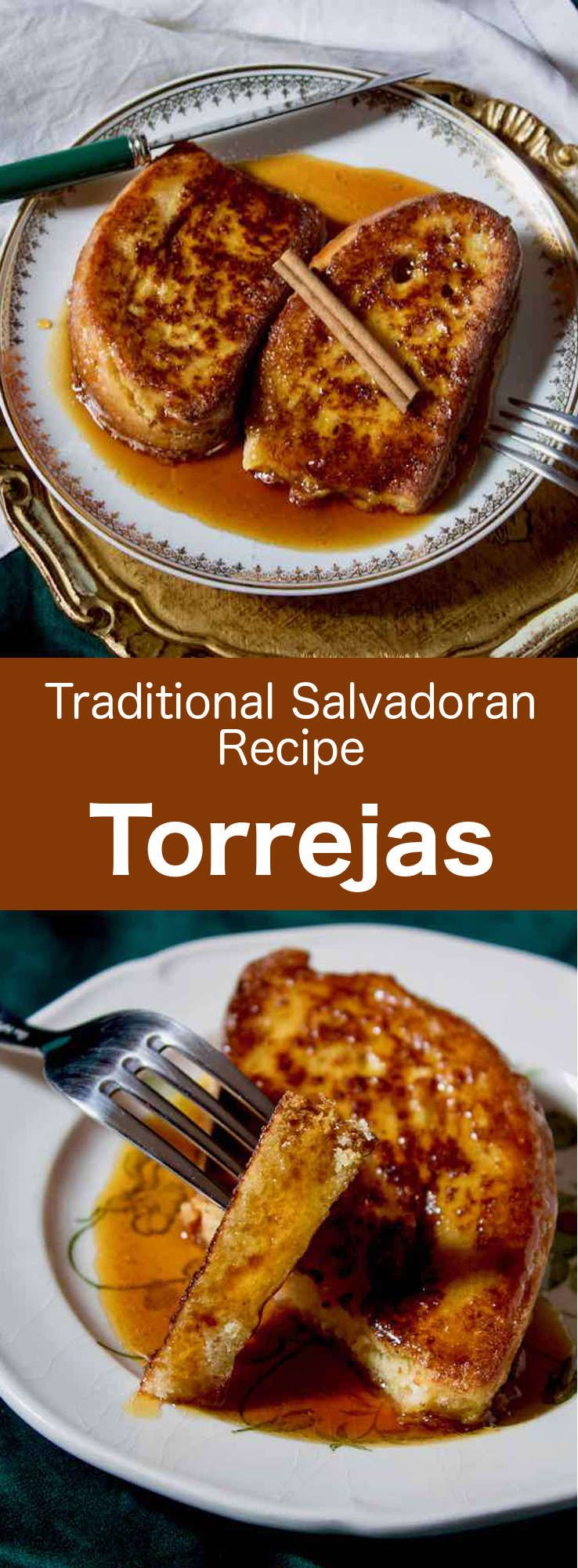 Torrejas are the delicious Latin American version of the French toast. They are traditionally served with panela syrup and various spices. #CentralAmericanCuisine #CentralAmericanRecipe #SalvadoranCuisine #SalvadoranRecipe #WorldCuisine #196flavors via @196flavors #elsalvadorfood
