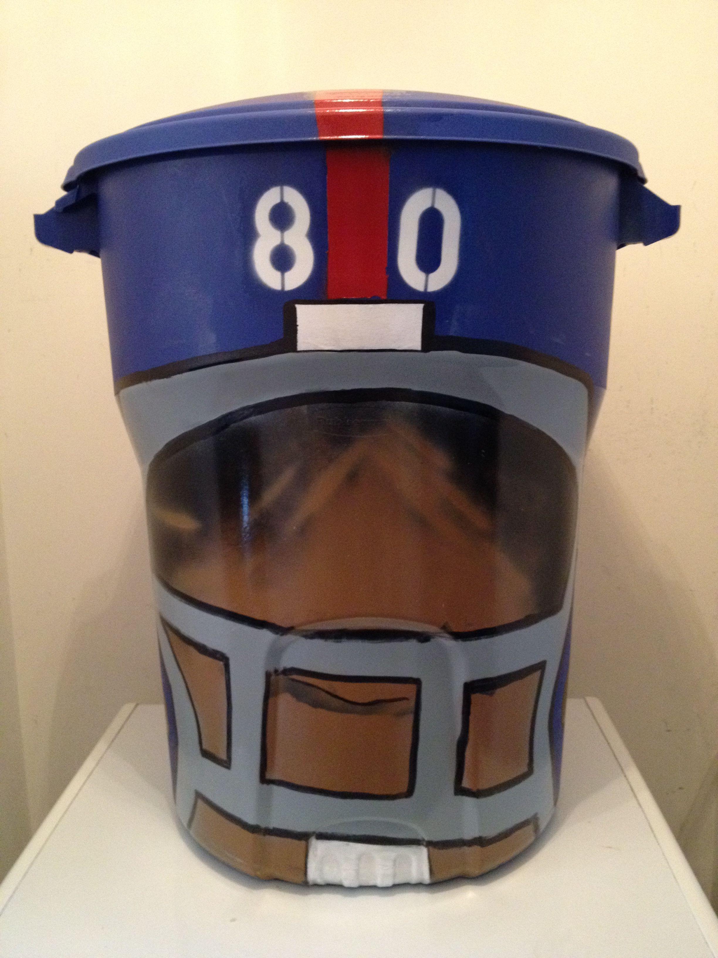 Ny Giants Helmet Can Trashy Art Canning Trash To