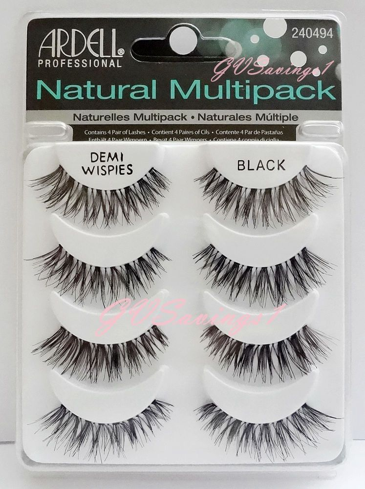 82f06860b44 (4 Pairs) Ardell DEMI WISPIES NATURAL MULTIPACK False Eyelashes Fake Lashes  Lot #Ardell