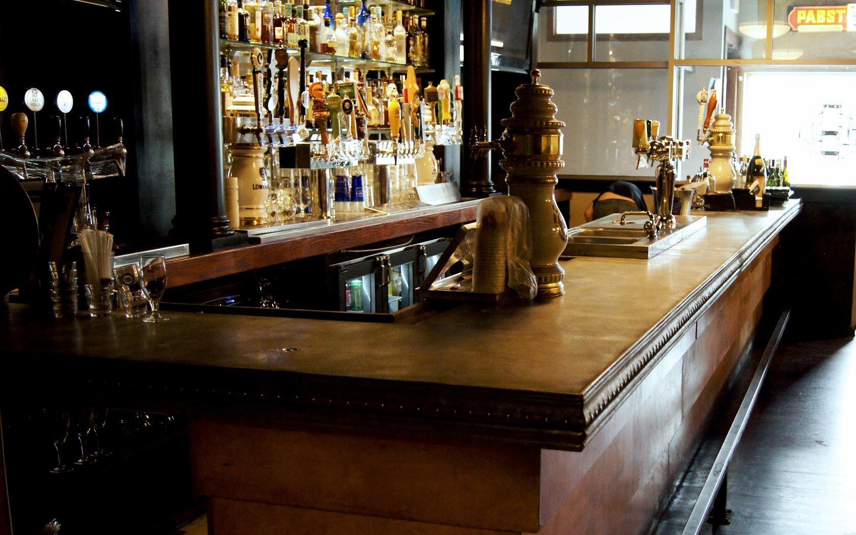 Bar · Cast Zinc Bar Top: Connecticut