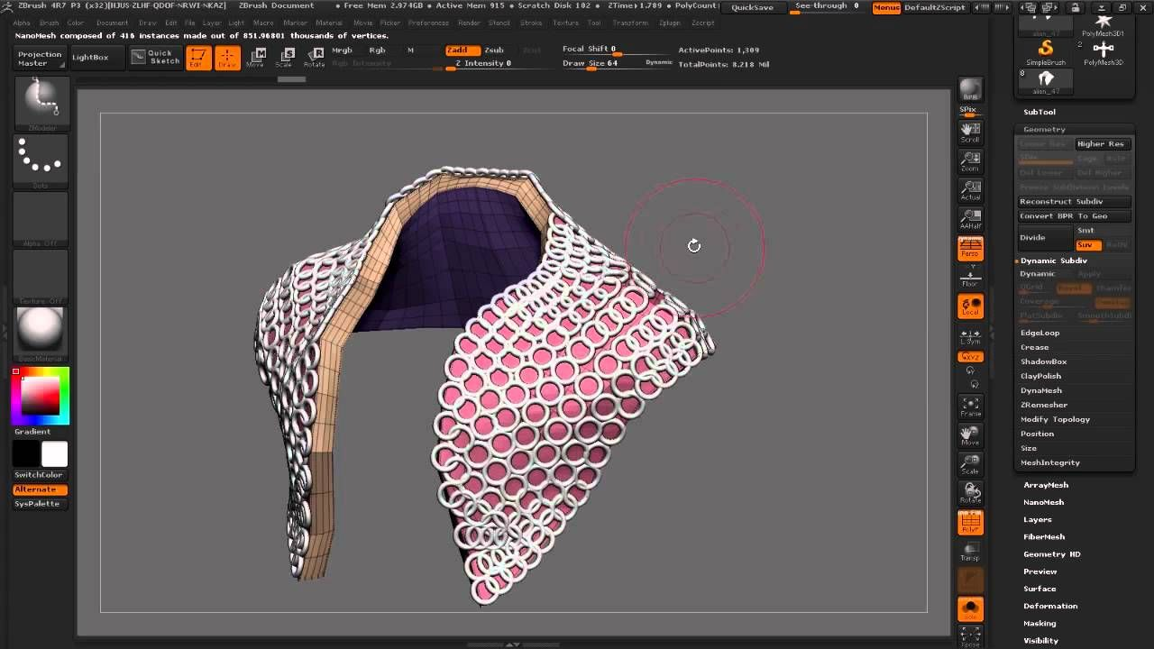 ZBrush tutorial: Weta Creature modelling, part 4