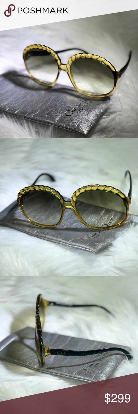 e4ff5c24c51be Rare Vintage Christian Dior Sunglasses Authentic Vintage sunglasses by Christian  Dior (Style 2062).