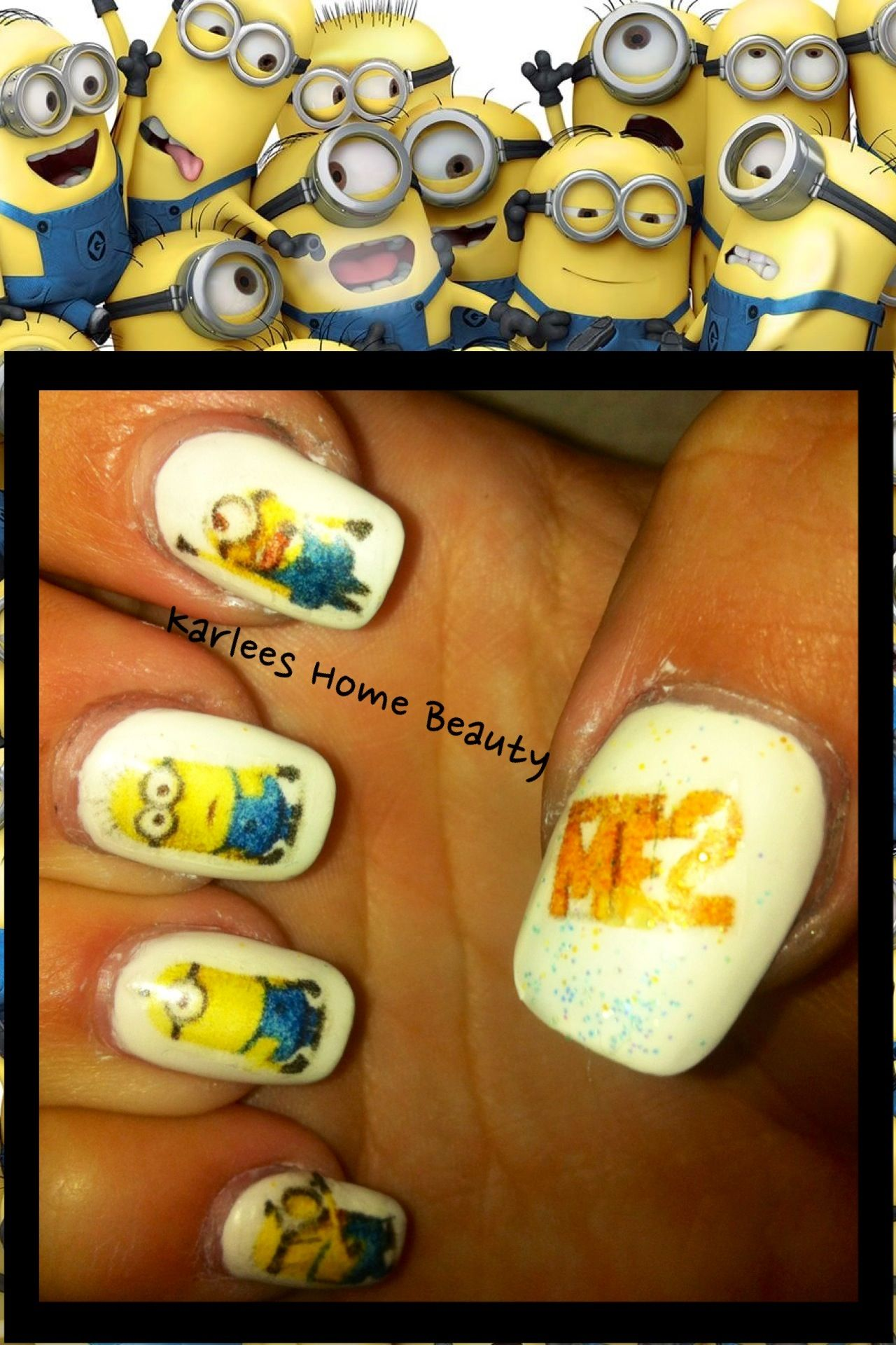 Minion nails. Despicable me 2 | Nail Ideas | Pinterest | Minion nails