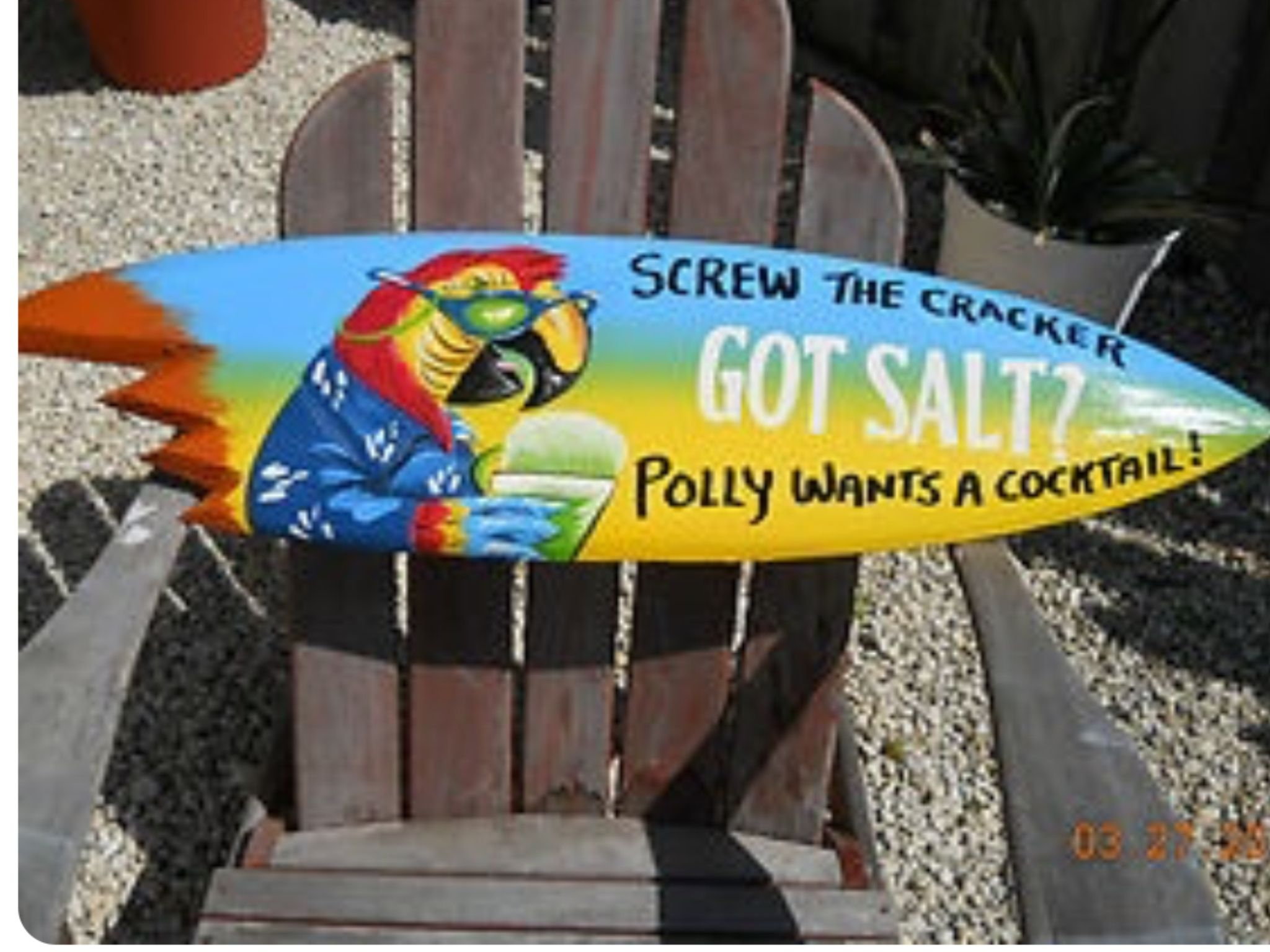 Cracker Drink Parrot Bar Metal Wall Sign Plaque Art Polly Wants A Cocktail