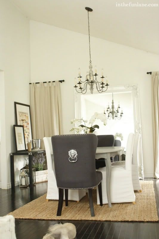 Love The Idea Of Using A Door Knocker On The Back Of Nice Dining Room Chairs
