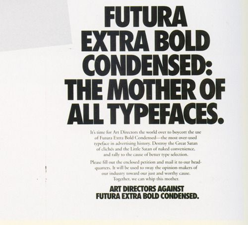 Futura Bold Condensed  Always makes me think of Nike