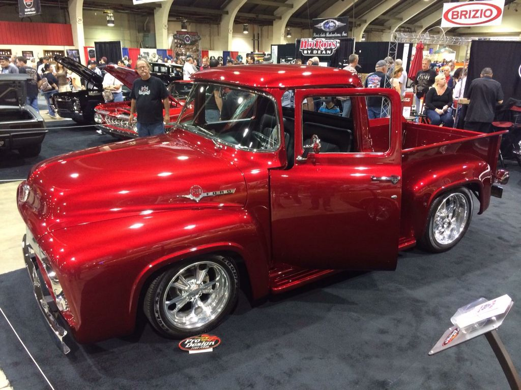 1956 Ford F100 in Candy Apple Red at the Grand National