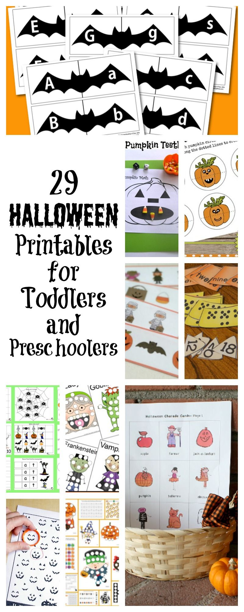 29 Halloween Printables For Toddlers And Preschoolers The Unprepared Mommy Halloween Printables Free Halloween Worksheets Free Halloween Worksheets [ 2000 x 800 Pixel ]