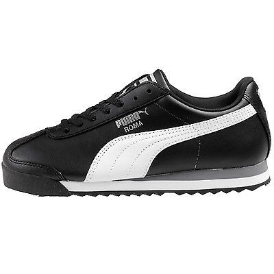 5aa985a3d7009d Puma Roma Basic Jr 354259-01 Black White Shoes Sneakers Gs Kids Youth Size 5