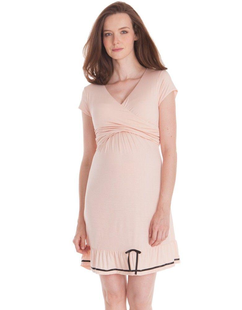 35cb0826d8 Pink Maternity   Nursing Nightie