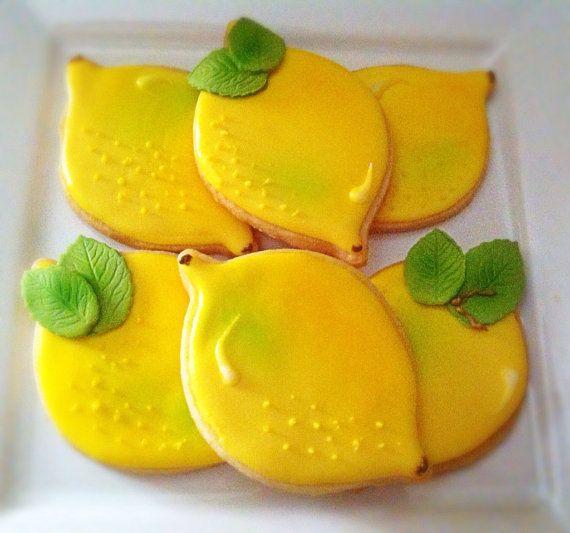 """Lemons"" Decorated Sugar Cookies"