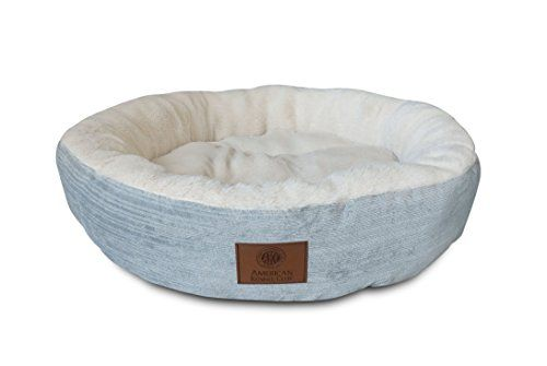 AKC Casablanca Round Solid Pet Bed for dogs or cats