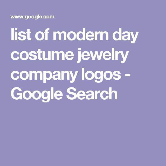 List Of Modern Day Costume Jewelry Company Logos Google Search Jewelry Companies Costume Jewelry Company Logo