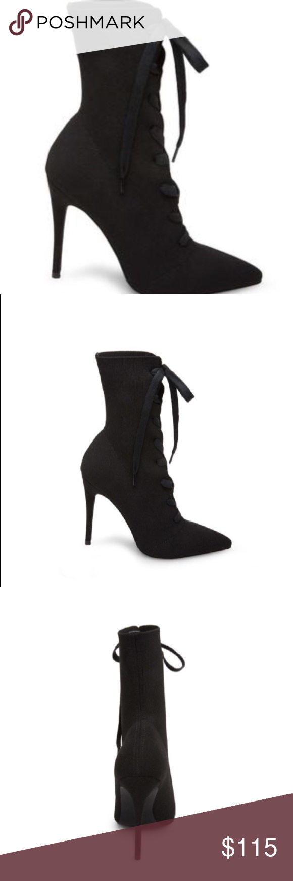 0ca179d4d46 NEW🌷 Steve Madden Kennedy Boots Knit surfaces give this super-sexy lace-up