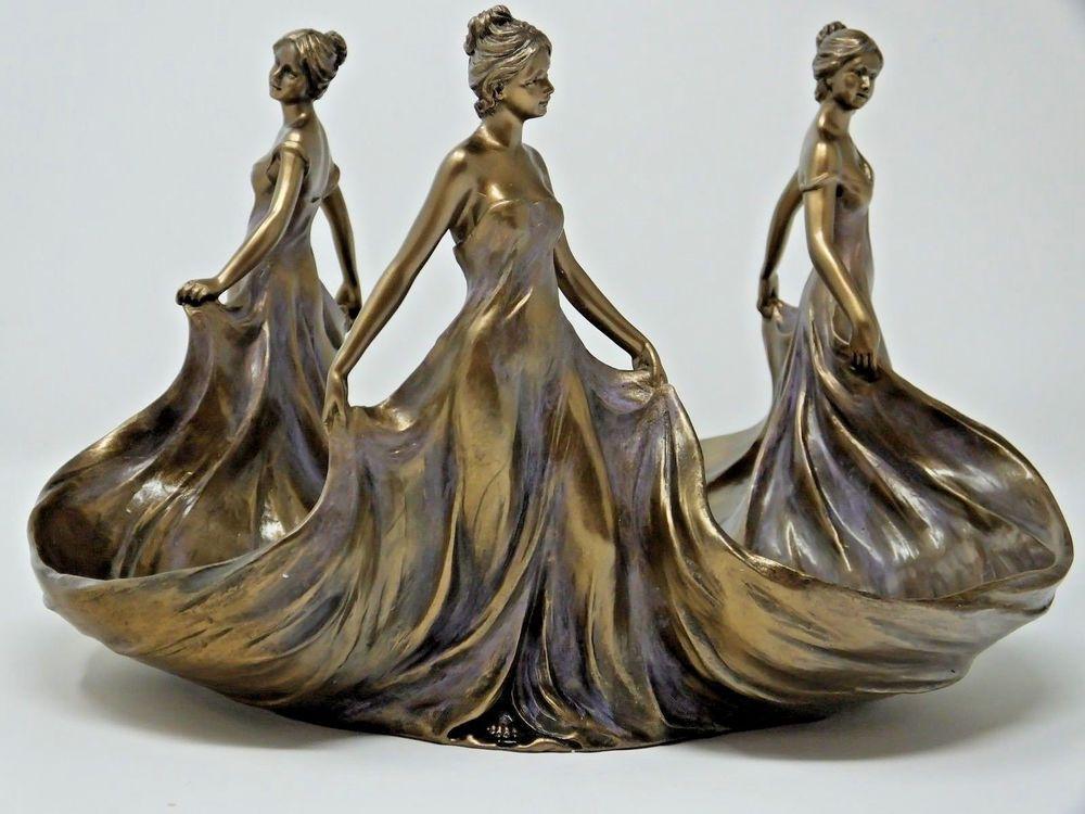 Studio Collection By Veronese Design Dancing Ladies Bronzebrass