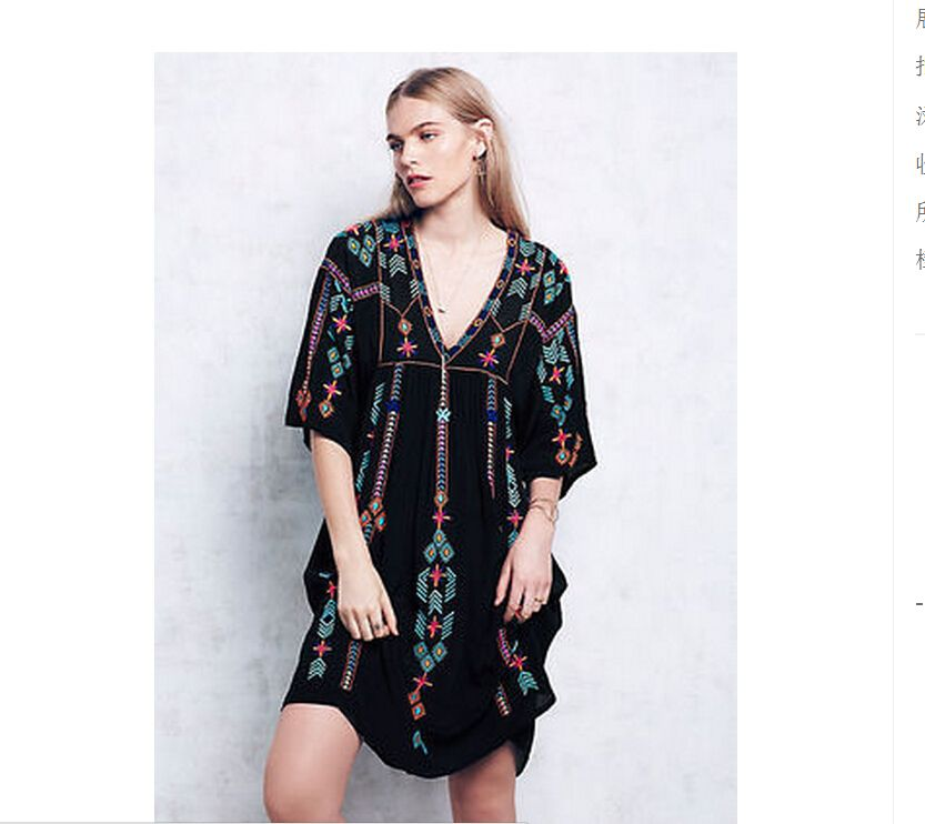 Find More Dresses Information about TO quality Plus size Mori Girl Women Vintage Ethnic Flower Embroidered Cotton Tunic…