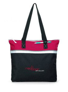 "Muse Convention Tote-Classic design and bright colors make this tote a standout Large capacity main compartment with zippered closure Pen loop 26"" shoulder straps"