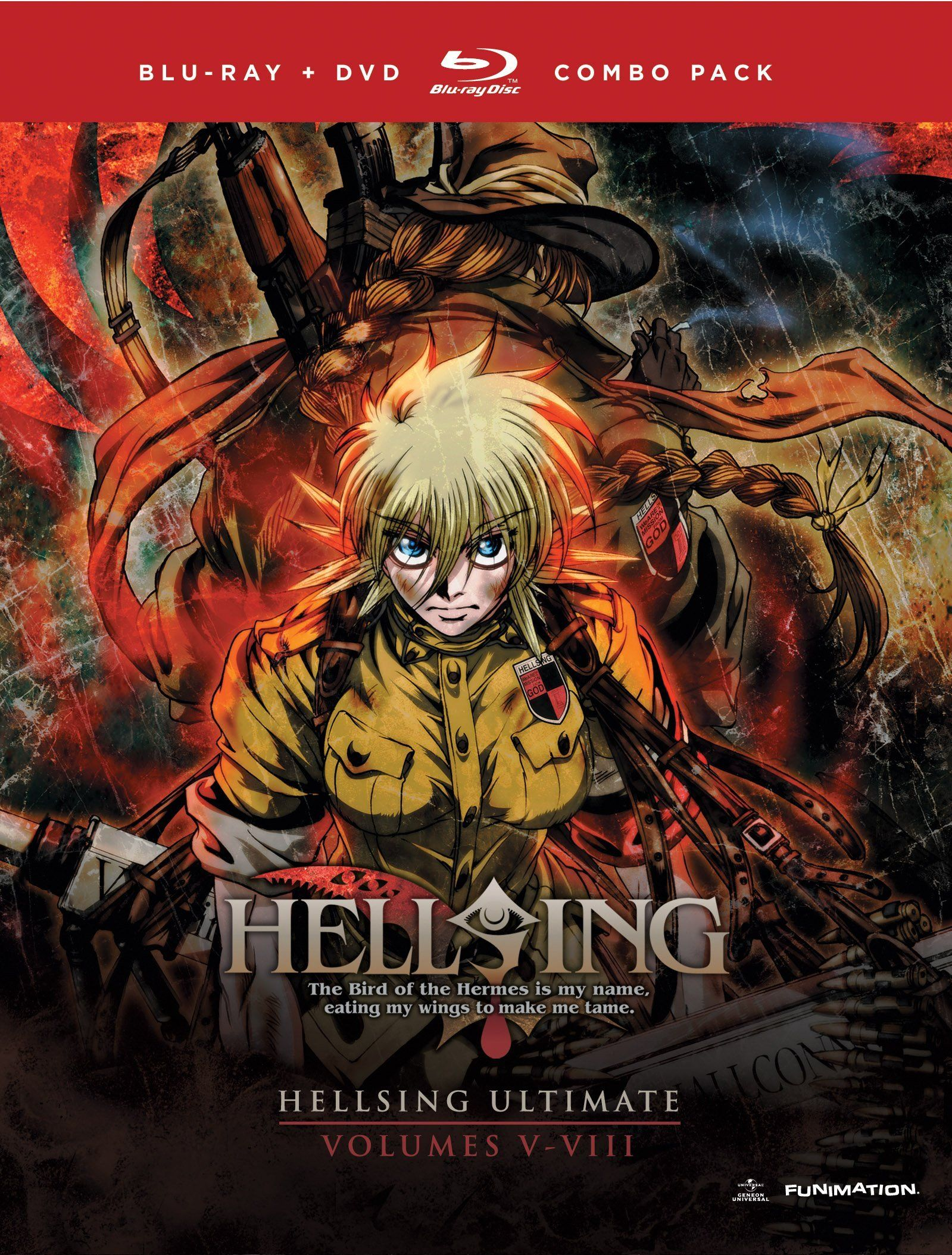 Hellsing Ultimate Bluray Vol. V VIII / 3 discs DVDs and