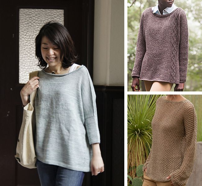 08e2dd6f2472e6 Drop-shoulder and dolman sweater knitting patterns for first-timers