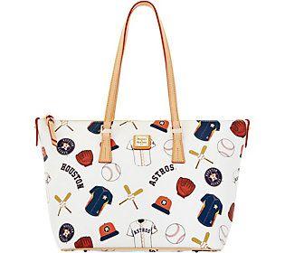 Dooney & Bourke MLB Astros Zip Top Shopper