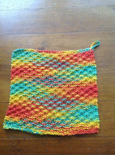 Super Simple Dishcloth pattern by The Knit Guru ...