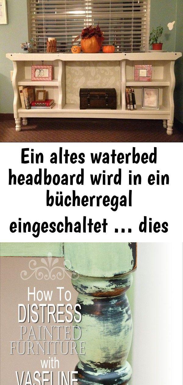 Ein altes waterbed headboard wird in ein bücherregal eingeschaltet  dies ist so eine nette idee 28 EIN ALTES WATERBED HEADBOARD WIRD IN EIN BÜCHERREGAL EINGESCH...