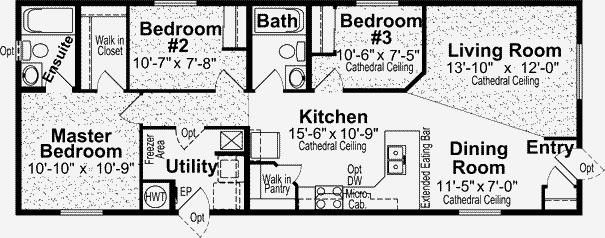 Ideas For Approx 20x70 Floor Plan Common Area In Center With Pitched Roof Thomas Homes Rv Center 1997 Inc Manuf Floor Plans Manufactured Home Flooring