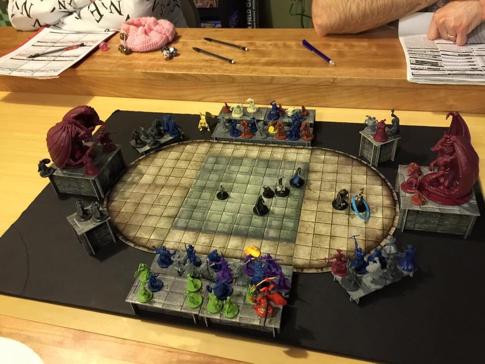 Used The 3d Tiles To Create An Arena For The Pcs To Fight