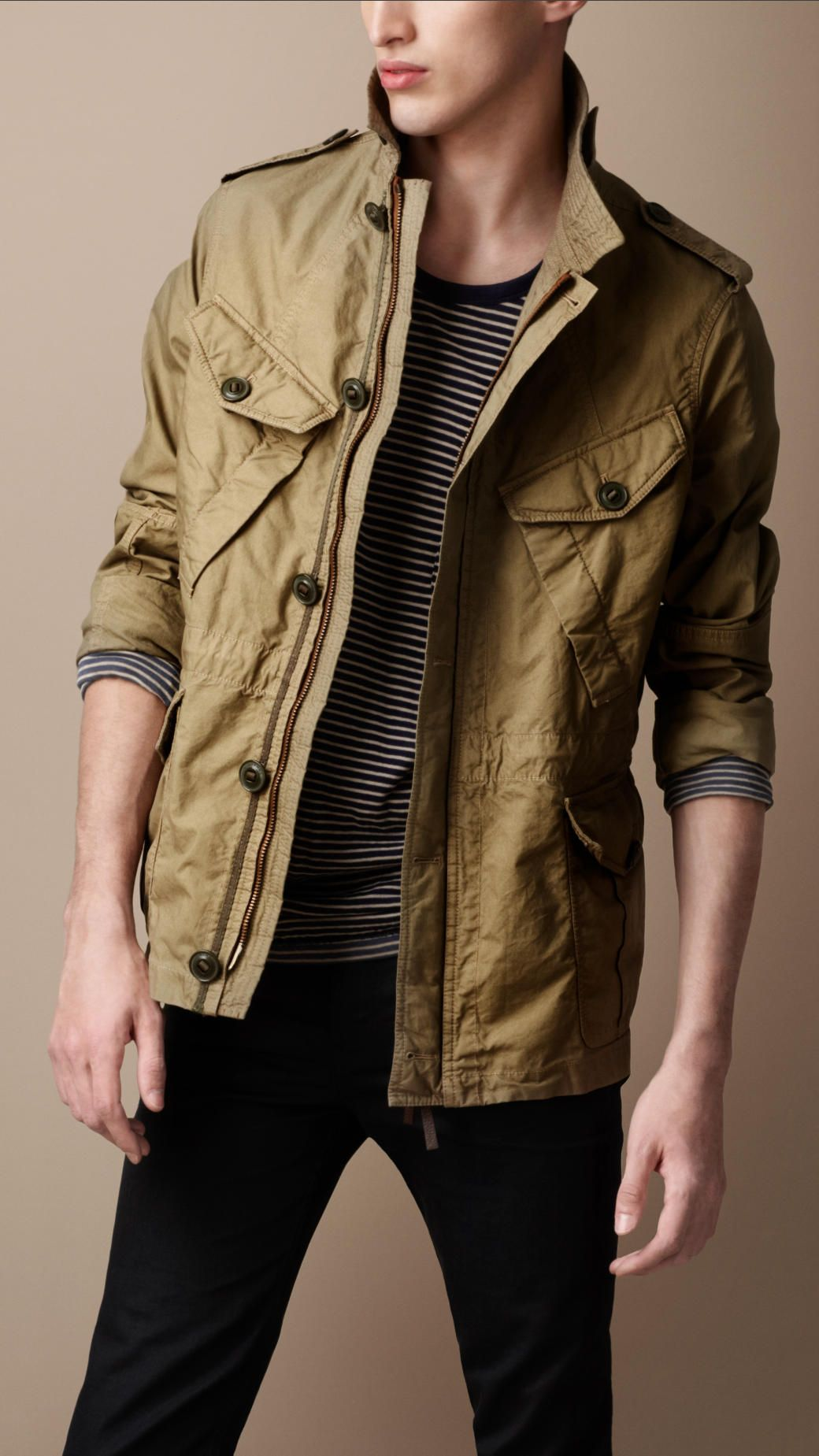 Men S Jackets Leather Bomber Jackets Burberry Official Luxury Mens Clothing Designer Clothes For Men Field Jacket [ 1849 x 1040 Pixel ]