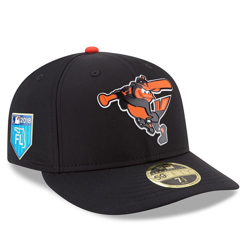 detailed look b4057 1dcc4 Baltimore Orioles New Era 2018 Spring Training Collection Prolight Low  Profile 59FIFTY Fitted Hat – Black