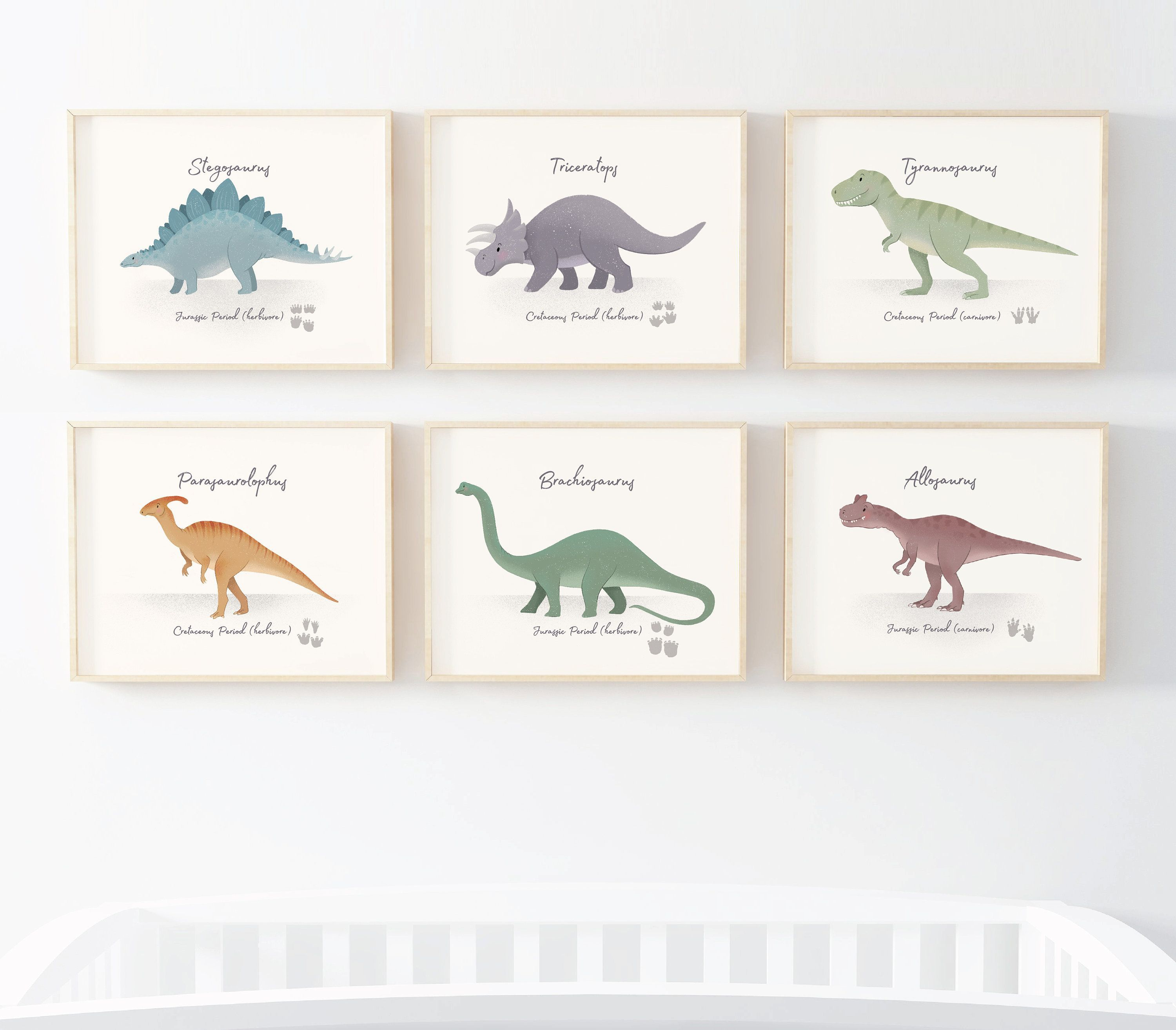 Set of 6 Dinosaur nursery prints, nursery wall art, dinosaur decor, boys room wall art, kids room decor, dinosaur art, triceratops, baby art #dinosaurnursery Set of 6 Dinosaur nursery prints, nursery wall art, dinosaur decor, boys room wall art, kids room decor, dinosaur art, triceratops, baby art #dinosaurnursery