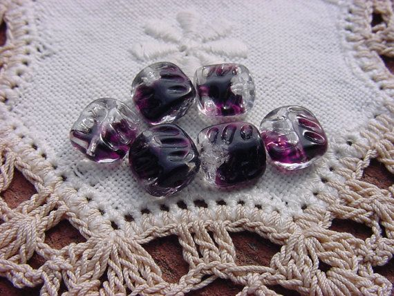 Check out this item in my Etsy shop https://www.etsy.com/listing/458333408/midnight-amethyst-givre-tabs-vintage