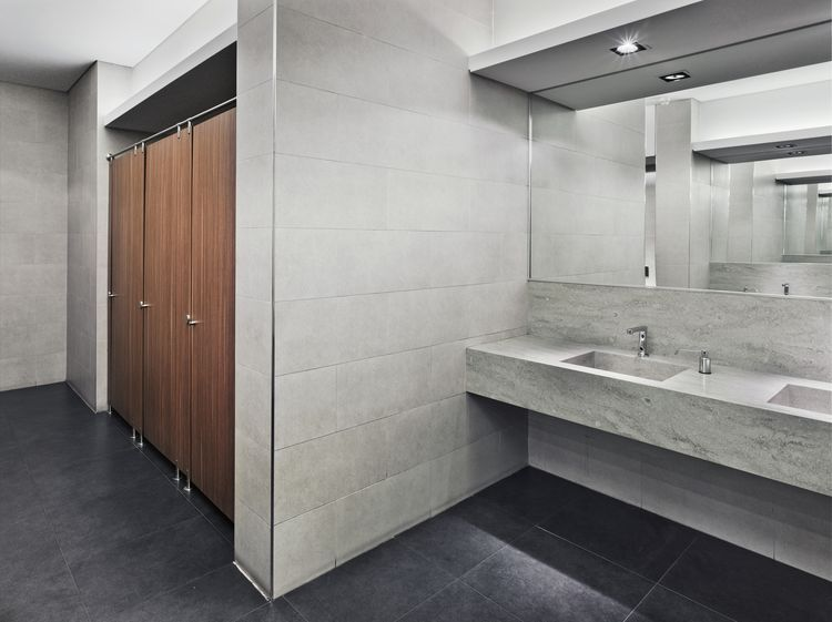 Here Are Your Best Flooring Options For Public Bathrooms  Public Captivating Bathroom Flooring Options Inspiration Design