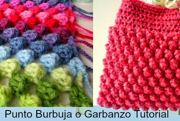 Punto Burbuja o Garbanzo Crochet 2 Tutoriales - Patrones Crochet ...