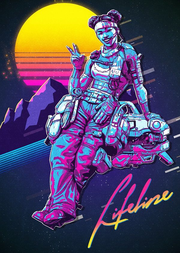 Apex Legends Retro 80s Characters Displate Posters