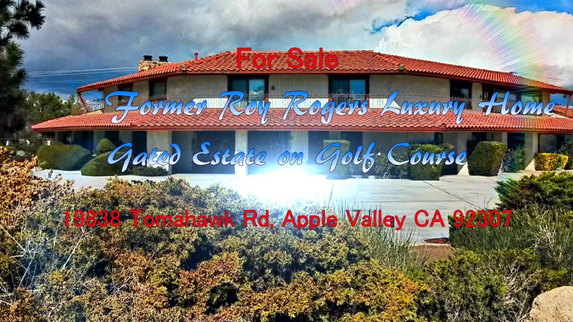 Former Roy Rogers Apple Valley Ca Home For Sale 2014 By Grand Vista Realty Apple Valley Apple Valley Ca Valley