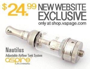 Cheap Aspire Nautilus Adjustable Airflow Tank $24 USA | Vaping Cheap