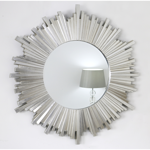 Carmen Silver Glass Framed Art Deco Mirror 28 X 28 Art Deco Mirror Mirror Sunburst Art
