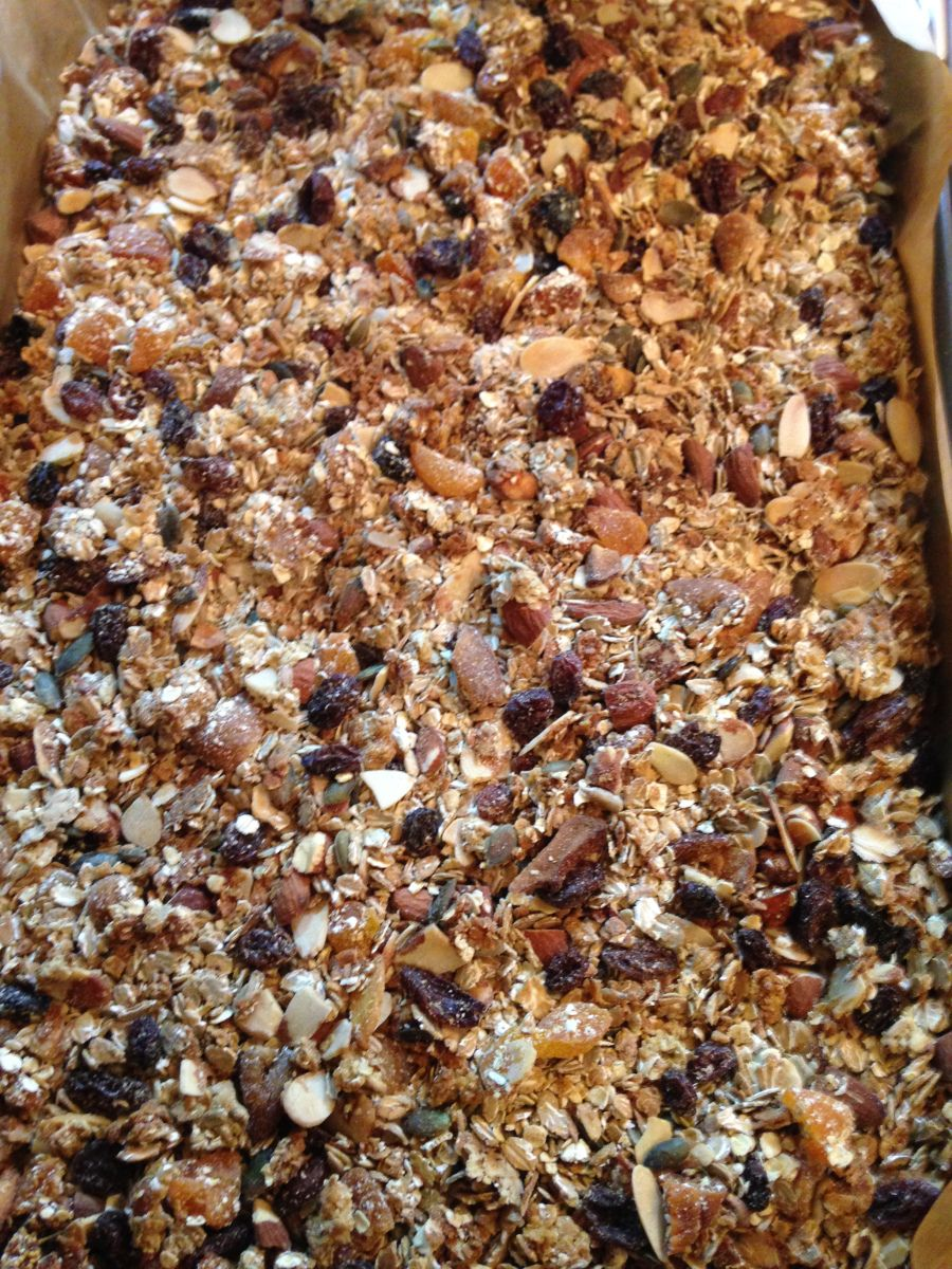 This is my second successful granola recipe (there have been a few failed attempts in between!) but here's the first recipe. I made this one for my mum who didn't like the idea of having chocolate ...