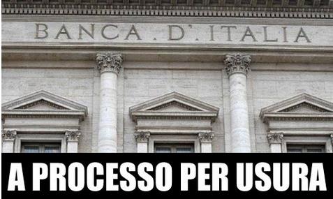 Bankitalia a processo per concorso morale e materiale nel reato di usura http://www.beppegrillo.it/2014/06/bankitalia_a_processo_per_concorso_morale_e_materiale_nel_reato_di_usura.html