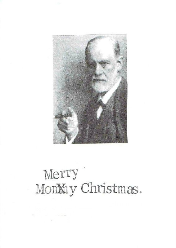 Mommy christmas freud holiday card weird and funny christmas cards mommy christmas freud holiday card greeting card by bluespecsstudio bookmarktalkfo Images