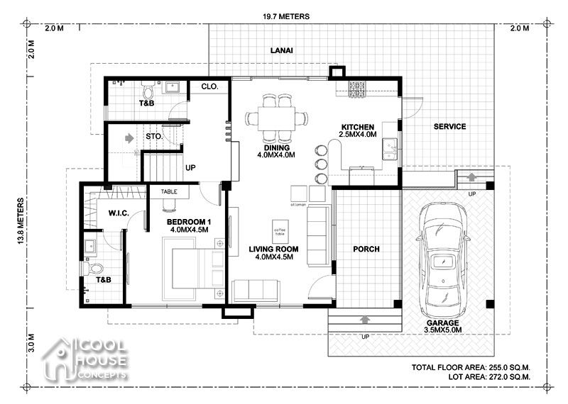 Four Bedrooms Two Storey Modern House Cool House Concepts Modern House Plans Home Design Plan House Plans