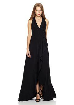 a8f9b8616a NICOLE MILLER Black Chloe Wrap Gown | Fancy, Casual & Rockin ...