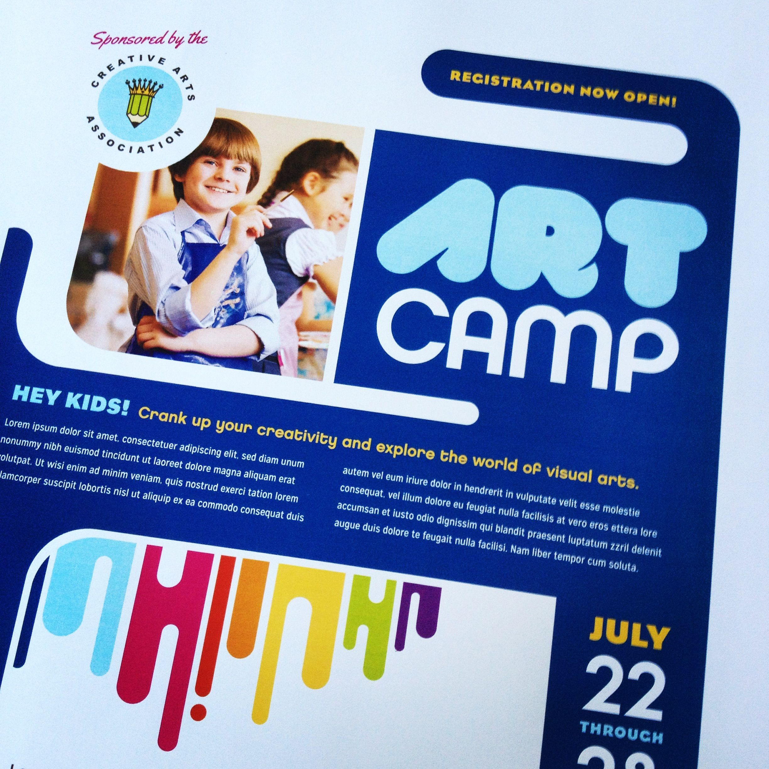 Kids Art Camp Flyer Design By Stocklayouts  Education Marketing