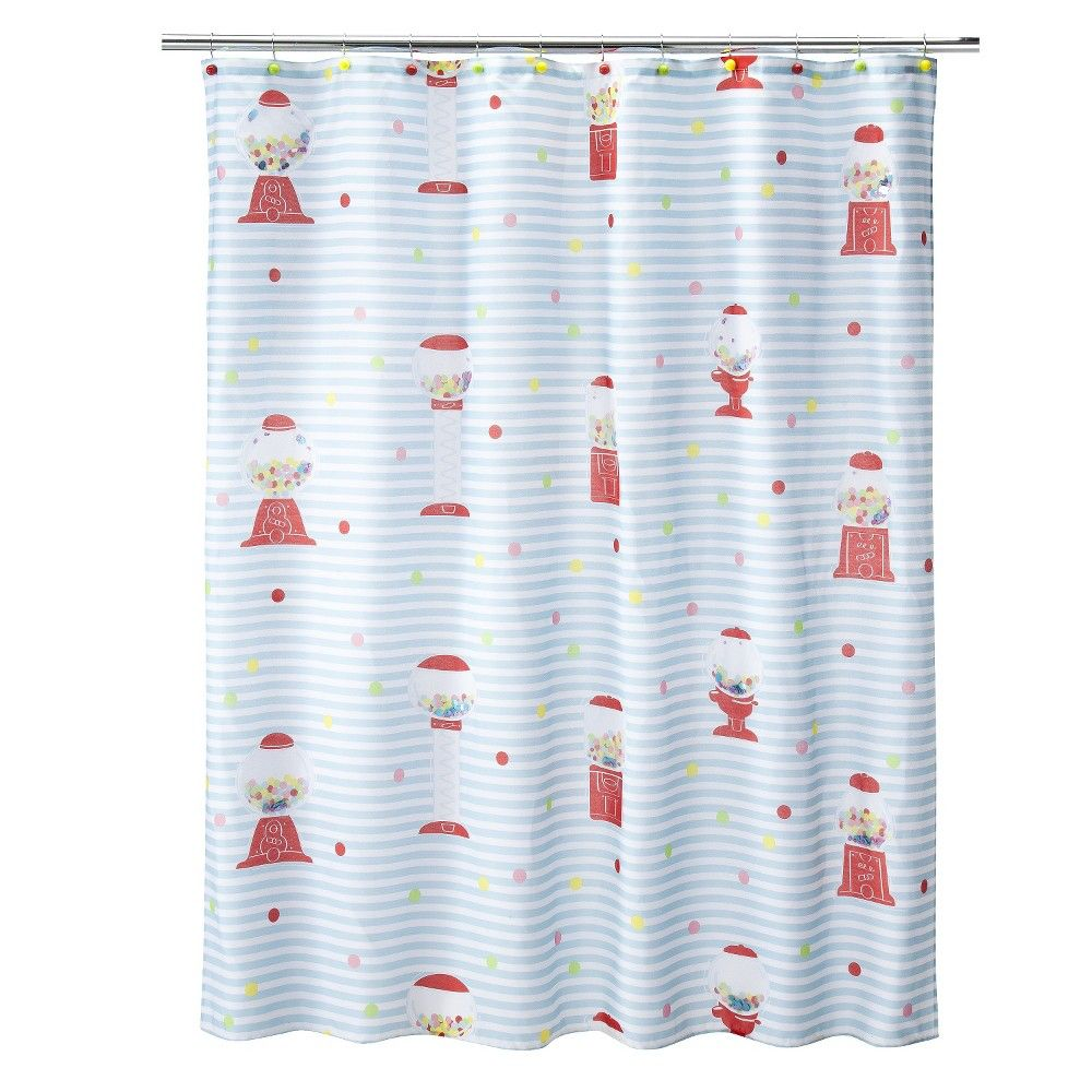 Gumball machine shower curtain x products pinterest