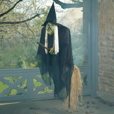 We added the The Flying Halloween Witch (Grandin Road) is outside thrilling the passers by (2013).