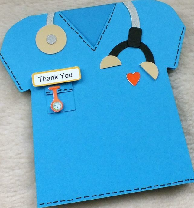 Special Doctor Vet Or Nurse Handmade Thank You Card  Cards