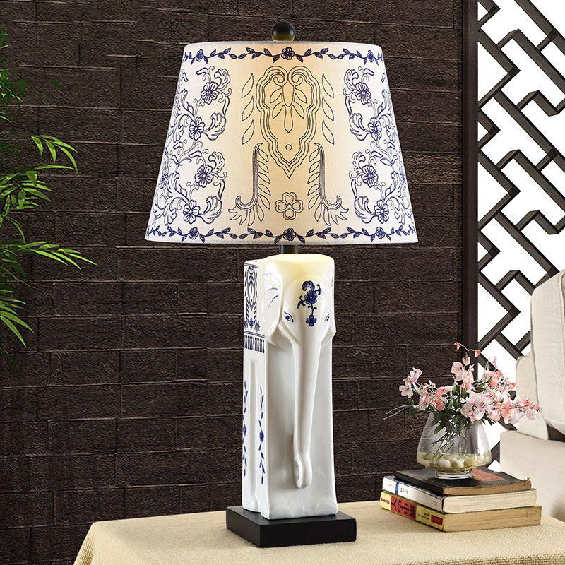 Ceramic Elephant lights Creative Fashion decoration Ceramic table lamps Abajour de mesa vintage Luminaria de mesa bedside lamps #Affiliate